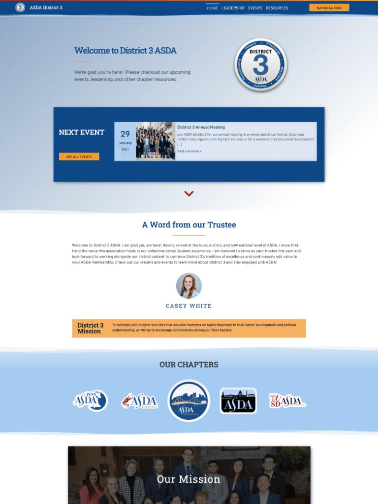 ASDA District 3 Website